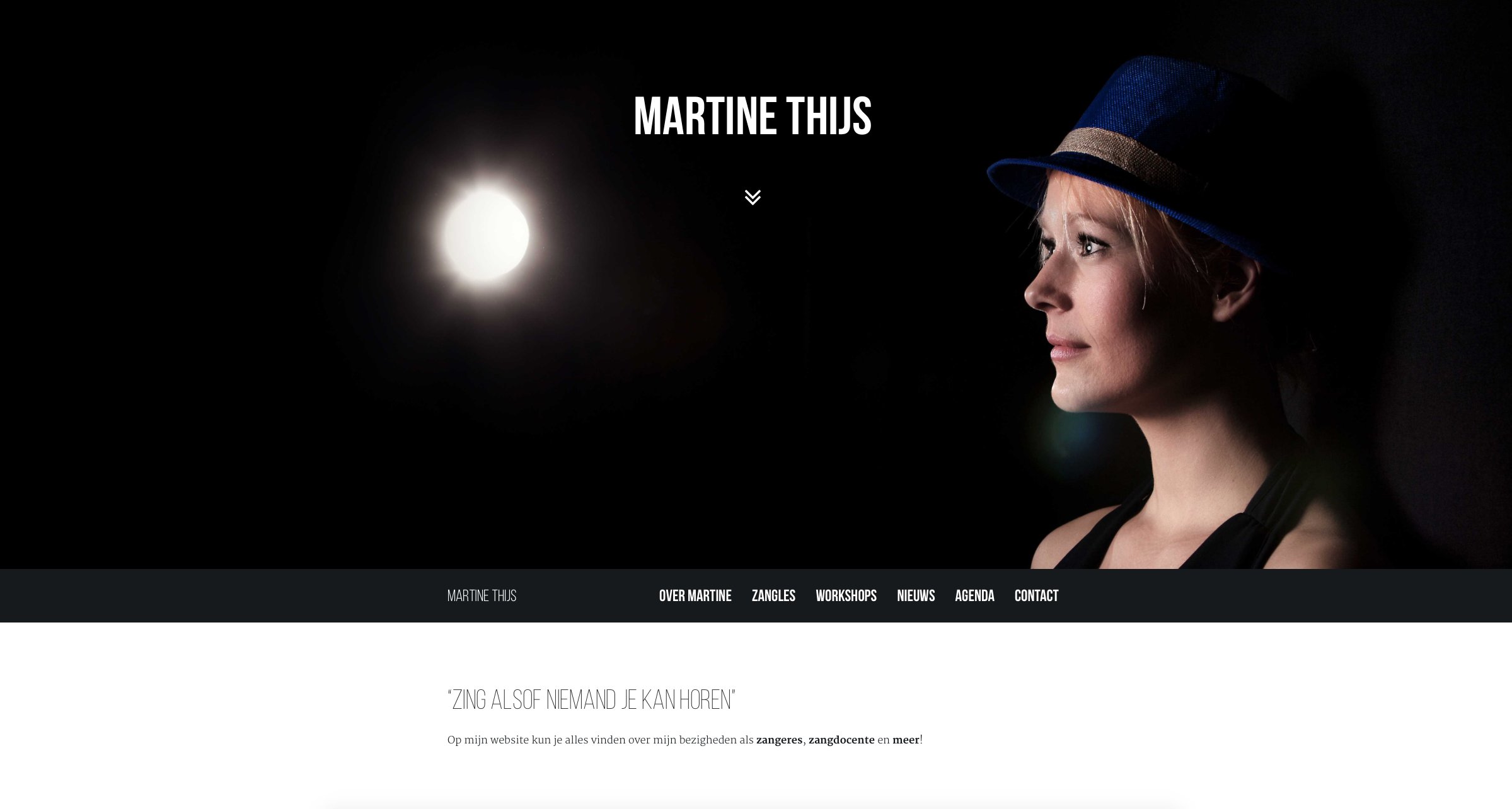 De website van Martine Thijs is online